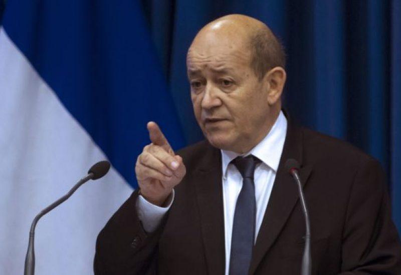 Français ministre des Affaires étrangères Jean-Yves Le Drian