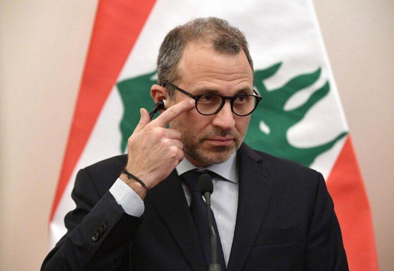 """Le chef du """"Courant patriotique libre"""" le député """"Gebran Bassil"""""""