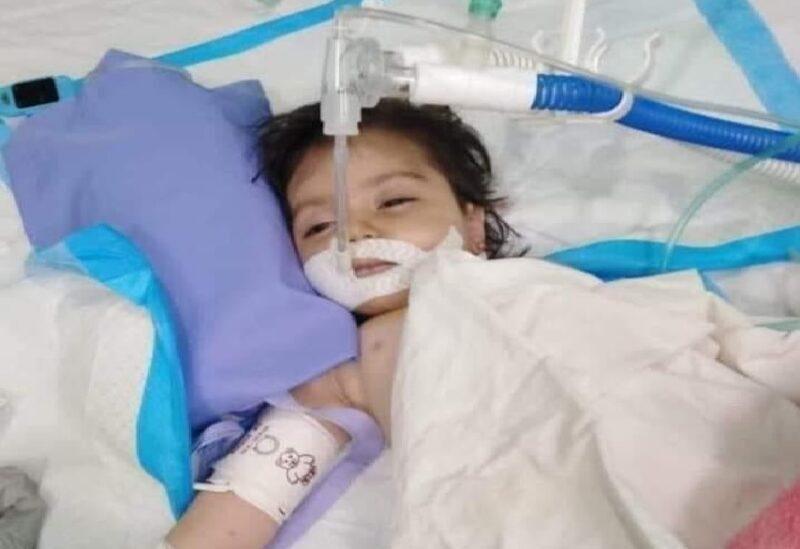 La petite fille Mireille Khaled El-Jundi
