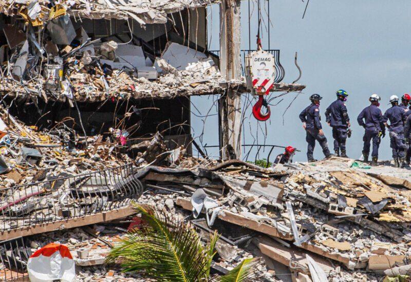 L'immeuble d'habitation effondré en Floride