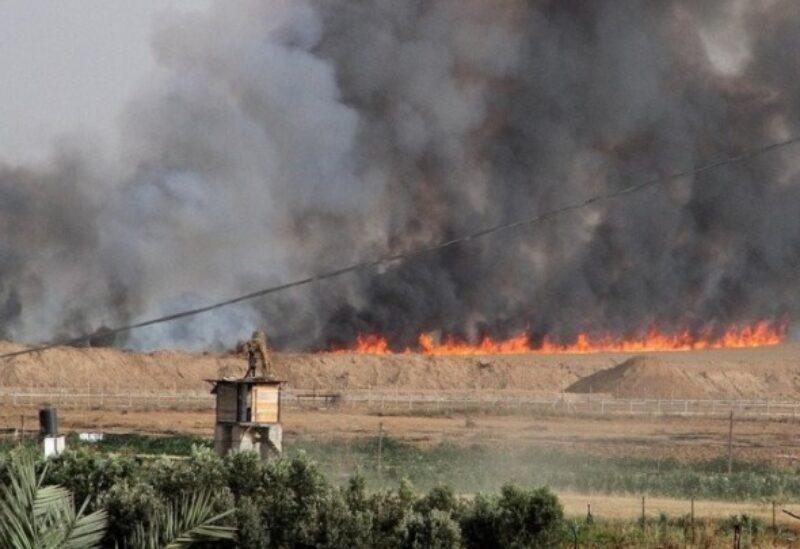 Incendies dans les colonies autour de la bande de Gaza