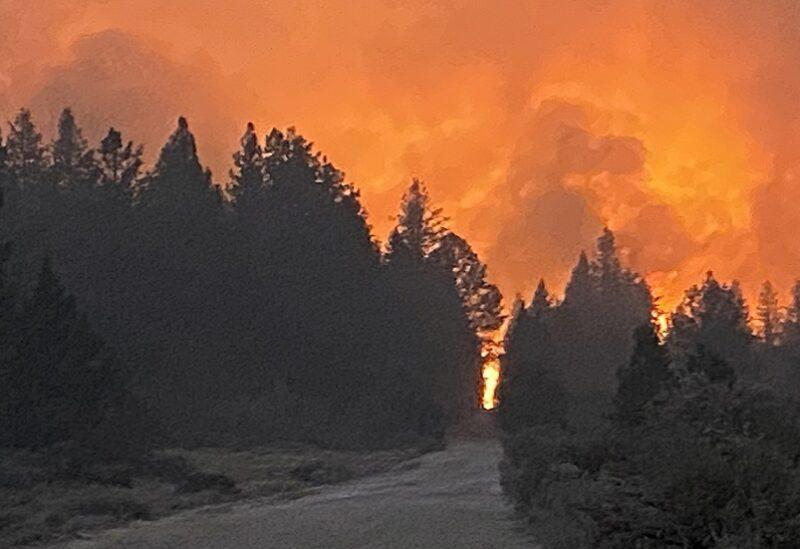 Feu de forêt dans l'Oregon, États-Unis
