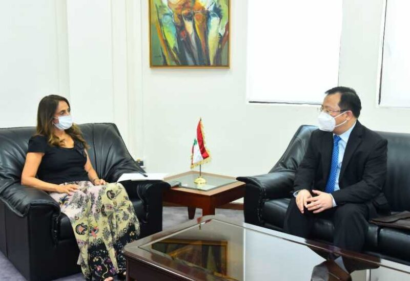 Akar et l'ambassadeur de Chine