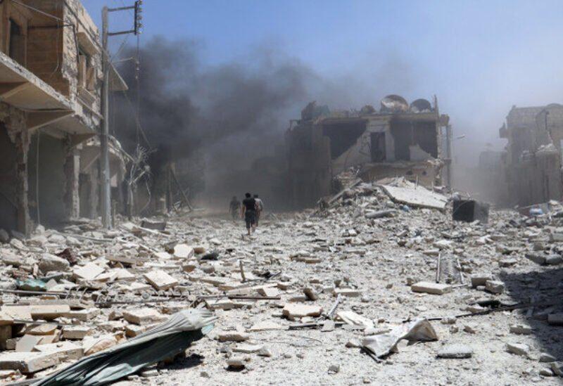 Bombardements des forces du régime sur la campagne d'Alep - archives