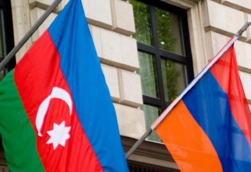 Drapeau de l'Azerbaïdjan et de l'Arménie