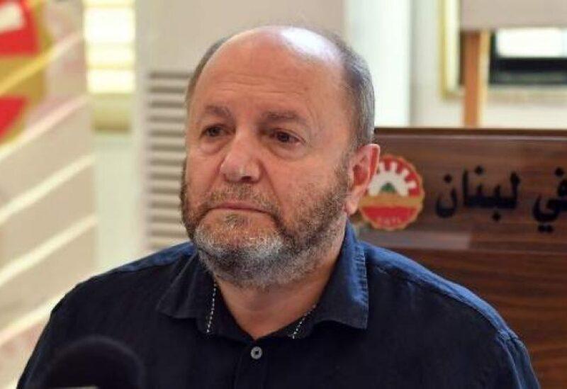 Le chef de la Confédération générale des travailleurs du Liban Bechara Al-Asmar