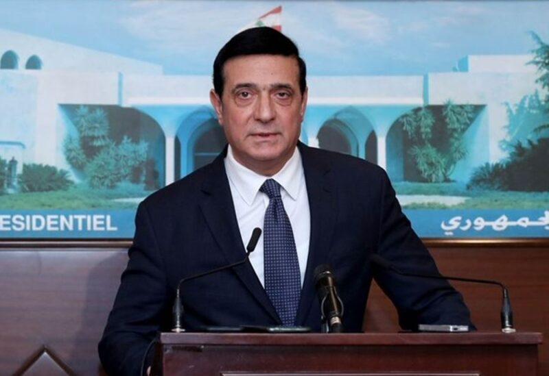 Le ministre des Travaux publics et des Transports du gouvernement intérimaire Michel Najjar