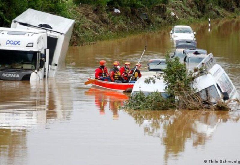 Dommages causés par les inondations en Allemagne (Reuters)