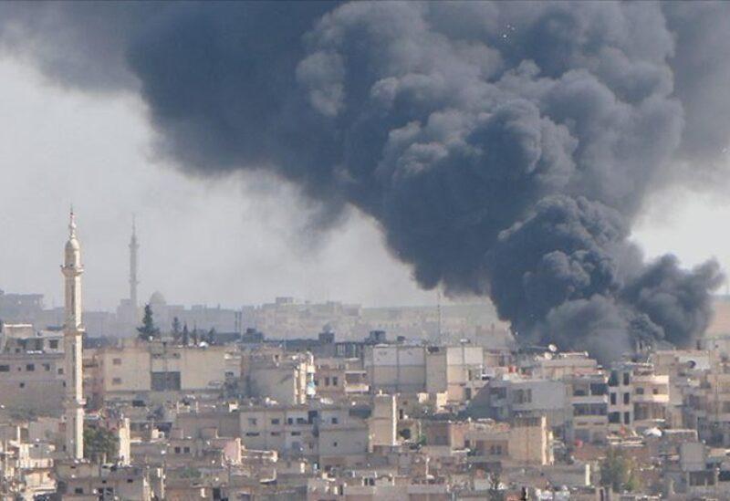 Bombardements sur la ville d'Idlib