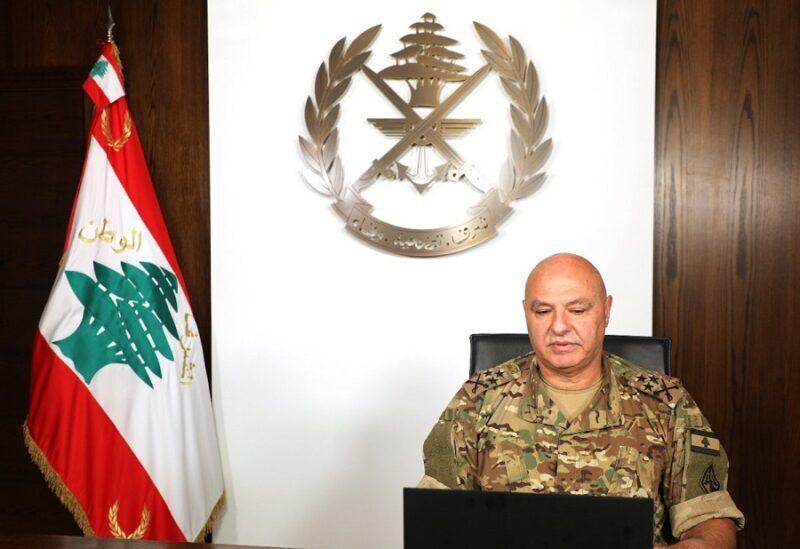 Le commandant en chef de l'armée Libanaise le général Joseph Aoun