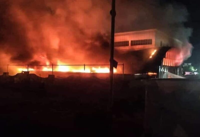 Incendie dans l'hôpital Al-Hussein à Nasiriyah