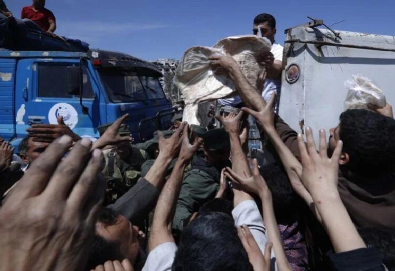 Files d'attente de pain en Syrie (archives)