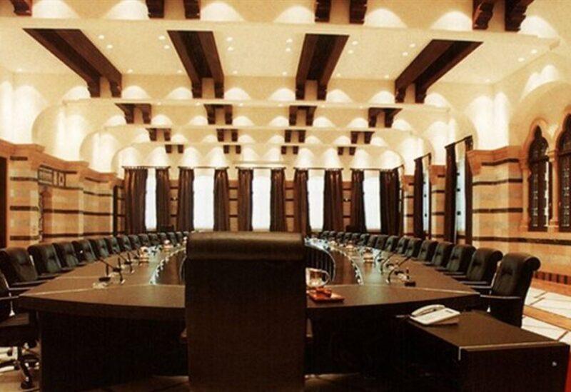 La table du conseil des ministres