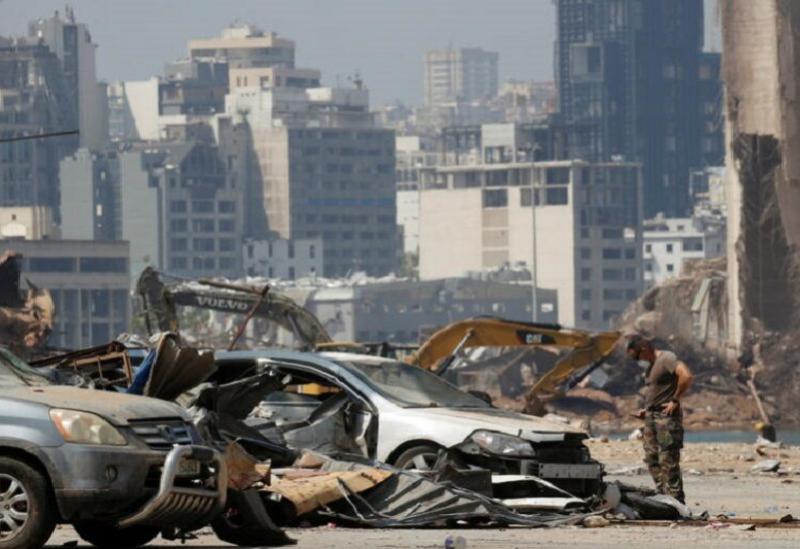 Les dégâts laissés par l'explosion du port