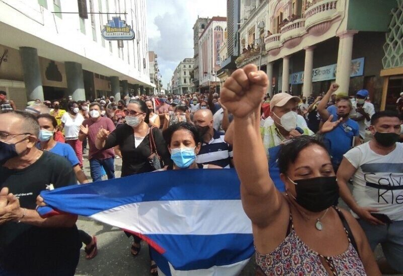 Manifestations à Cuba