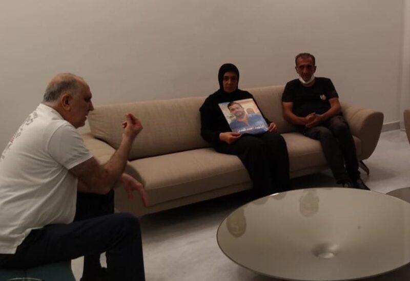 Rencontre des familles des martyrs du port avec le ministre Fahmi