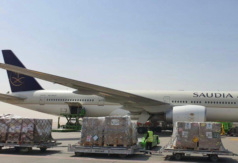 Un avion saoudien transportant l'aide