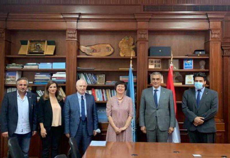 Une délégation des Phalanges rend visite au Coordonnateur spécial des Nations Unies au Liban