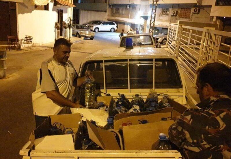 Une quantité de carburant a été saisie entre des maisons à Beyrouth