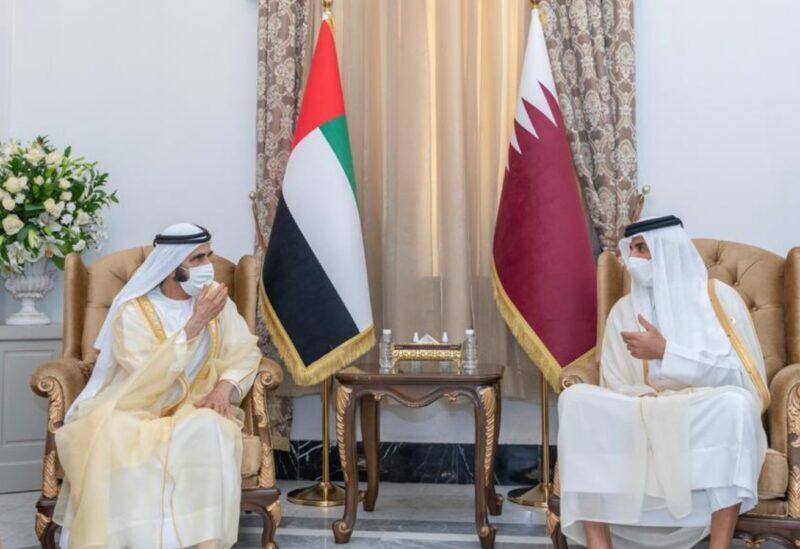 L'émir du Qatar et le dirigeant de Dubaï