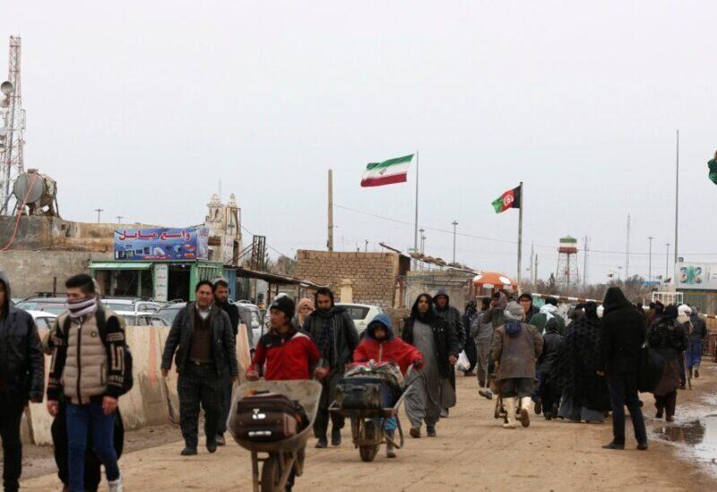 La frontière entre l'Afghanistan et l'Iran