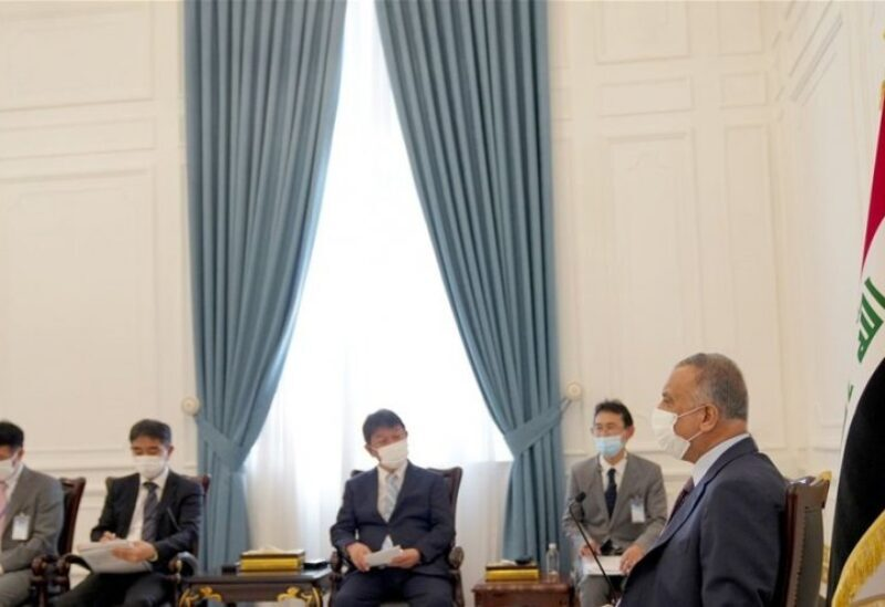 La rencontre du ministre japonais des Affaires étrangères, Toshimitsu Motegi, avec M. Al-Kazemi