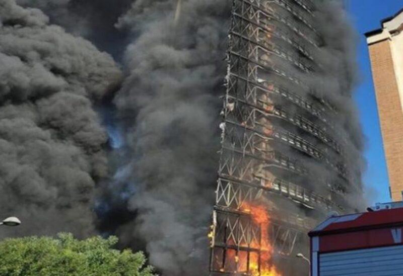 Un incendie dans une tour résidentielle en Italie