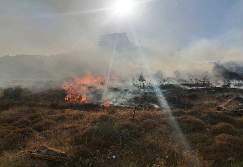 Un incendie à Assoun