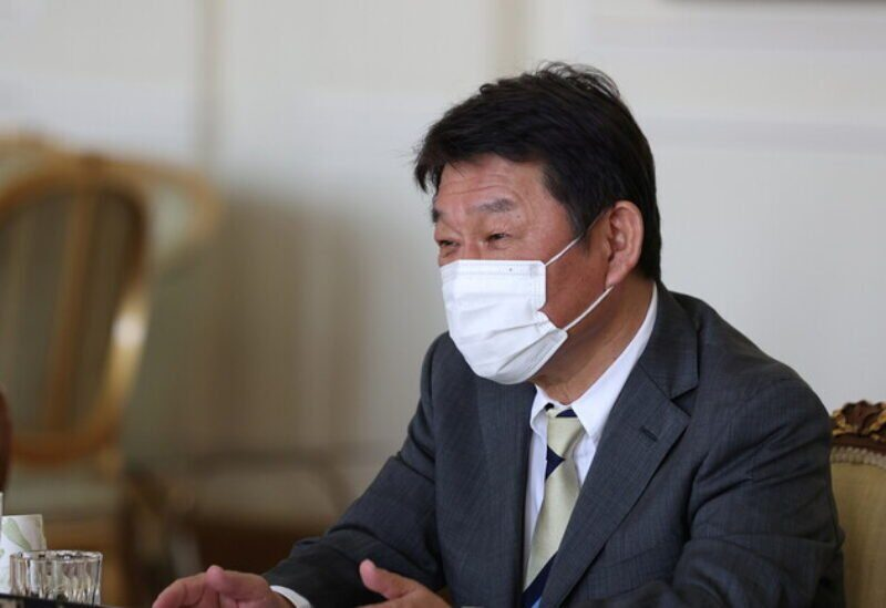 Le ministre japonais des Affaires étrangères Toshimitsu Motegi