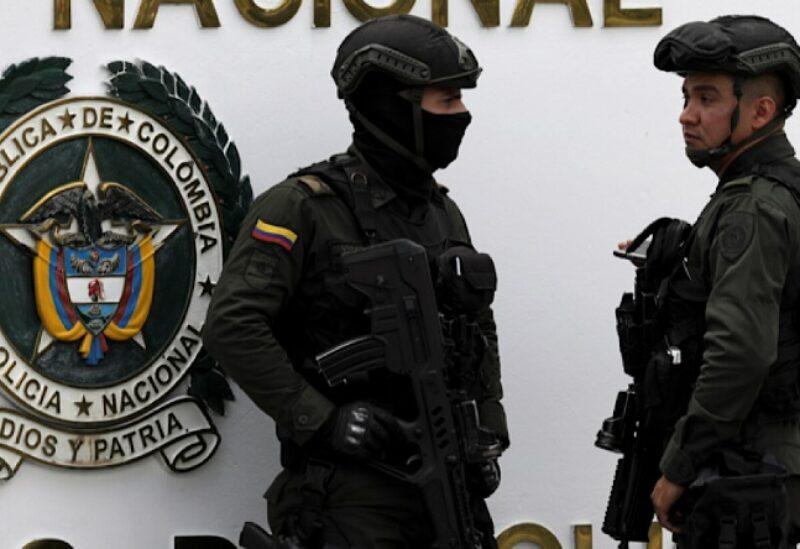 La police colombienne
