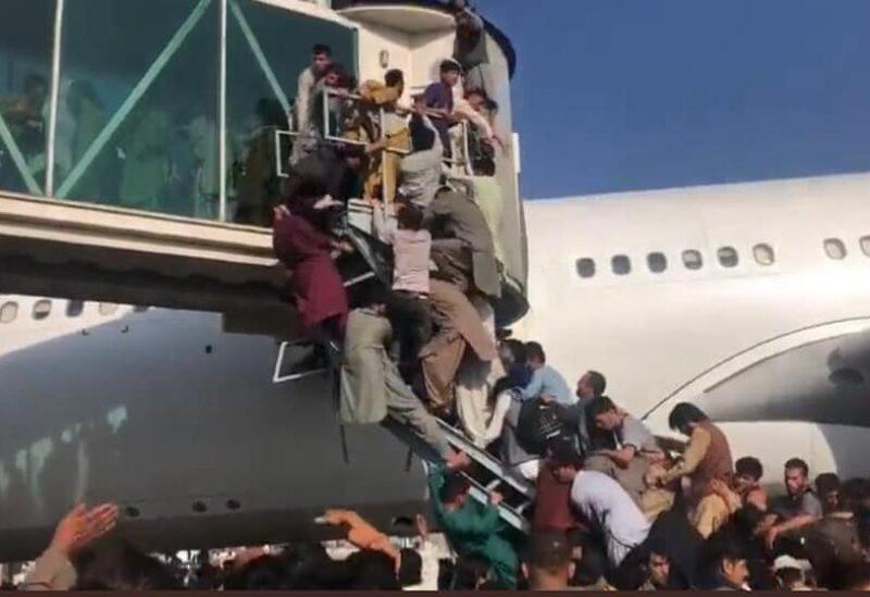 Aéroport de Kaboul ce matin