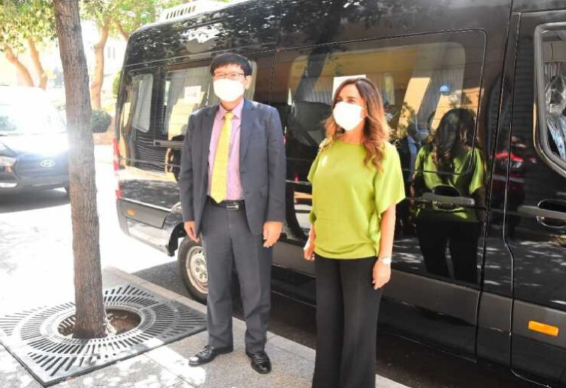 Akar et l'ambassadeur de Corée du Sud