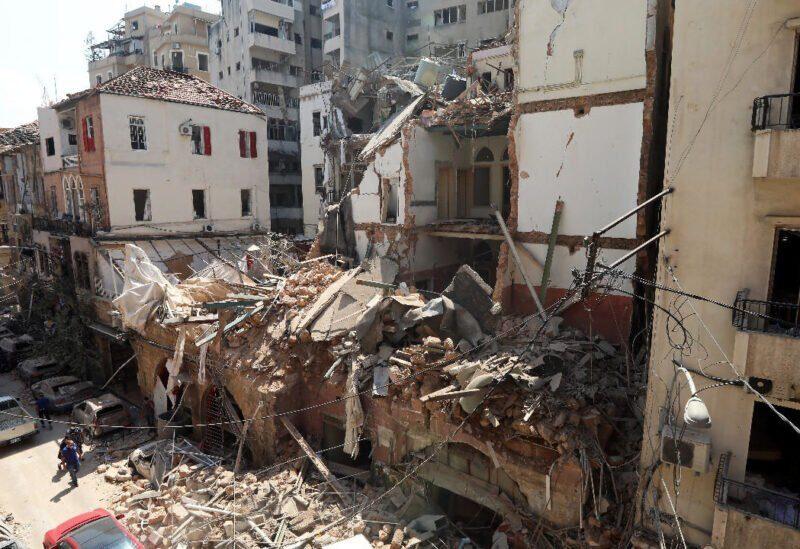Destruction dans certains quartiers de Beyrouth à la suite de l'explosion du port