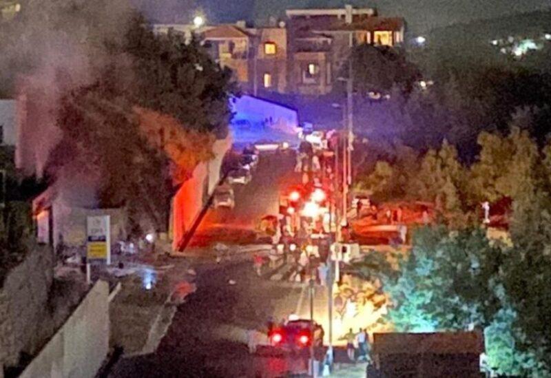 Explosion dans une des stations de la ville de Hadath al-Jebeh-District de Bcharré