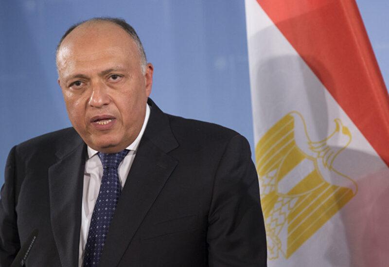 Le ministre égyptien des Affaires étrangères Sameh Choukri