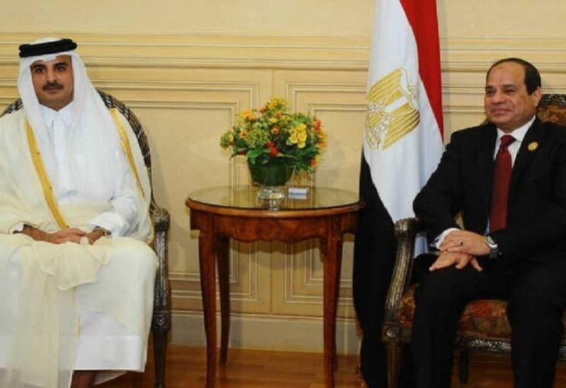 Le président égyptien et l'émir du Qatar - Archive