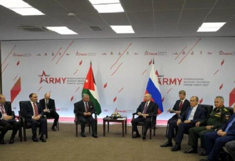 Le roi de Jordanie rencontre le président russe