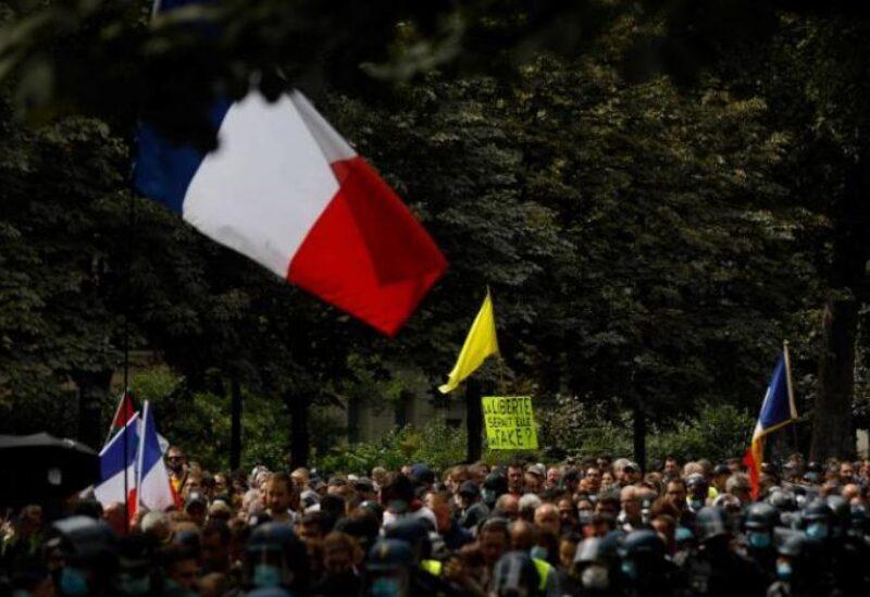 Manifestations en France contre le certificat sanitaire