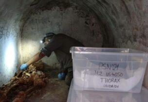 Momie découverte dans l'ancienne ville romaine de Pompéi