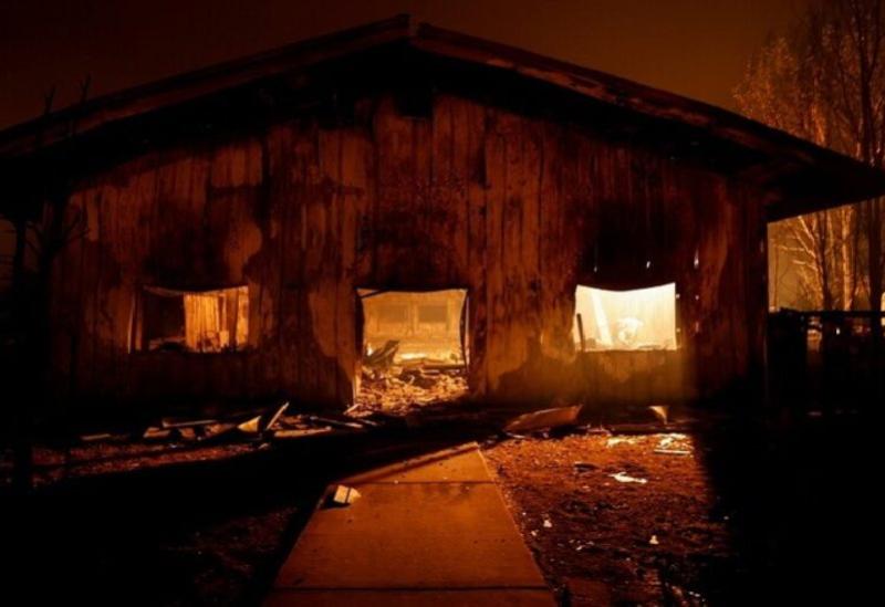 Un grand incendie en Californie