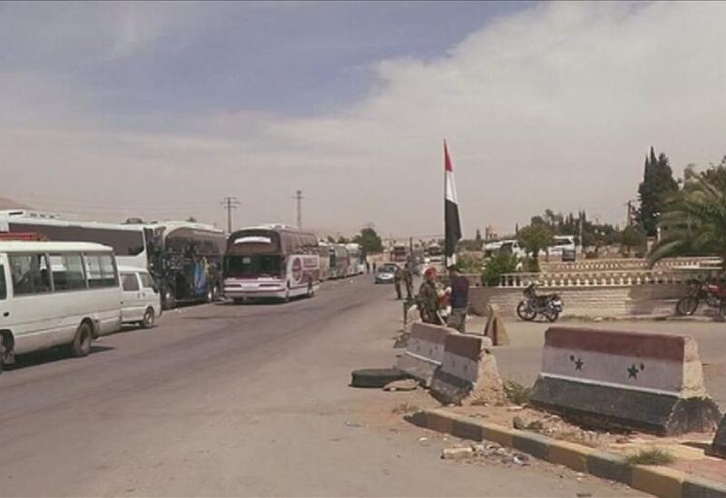 Un poste de contrôle militaire pour les forces du régime en Syrie
