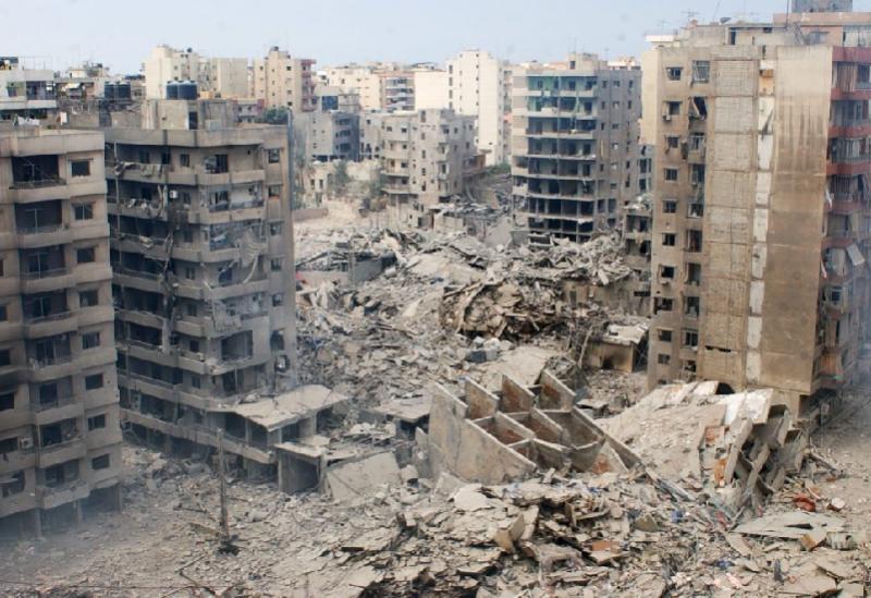 Une photo de la guerre de juillet de Haret Hreik dans la banlieue sud de Beyrouth