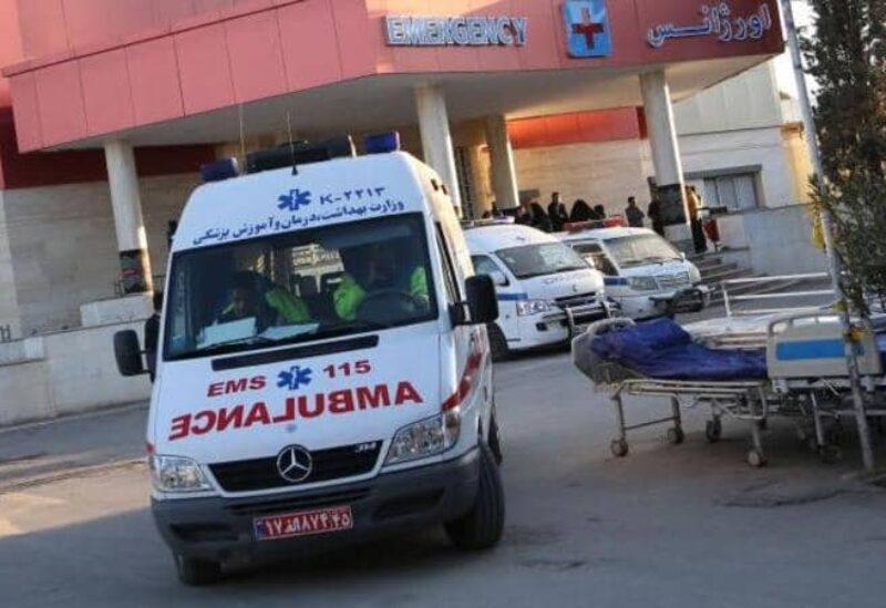 Une ambulance dans un hôpital iranien