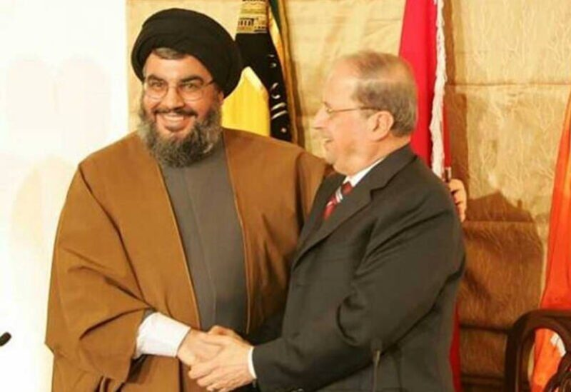 Hassan Nasrallah et Michel Aoun