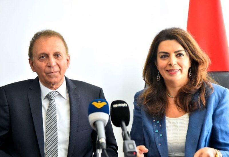 Ghada Shreim et le nouveau ministre Issam Sharaf El Din Chehayeb