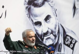 Le commandant adjoint des Gardiens de la révolution, le général de brigade Ali Fadavi