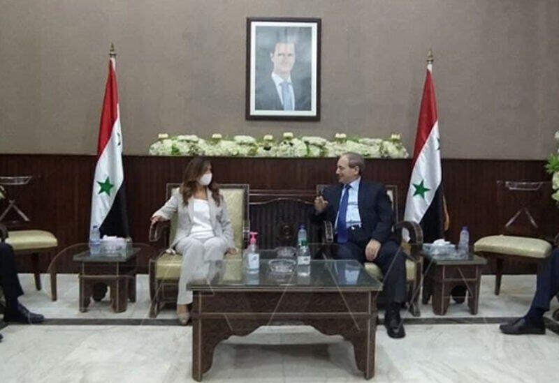 Akar et le ministre des Affaires étrangères du régime syrien