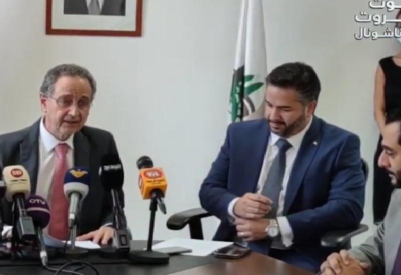 L'ancien ministre de l'Economie Raoul Nehme pleure