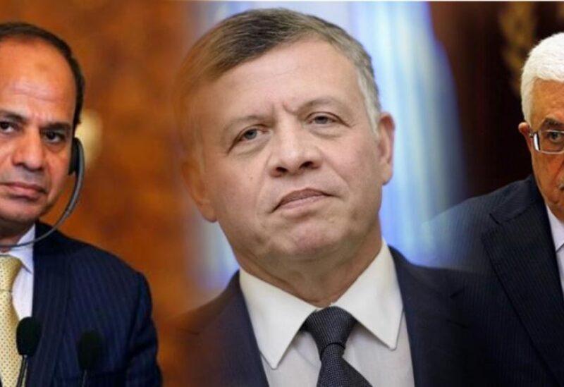 Le président Abbas, le roi Abdallah et le président Sissi