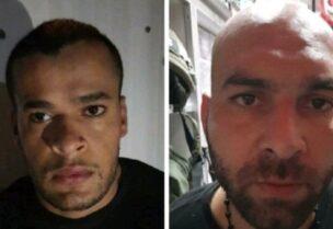 Les deux prisonniers Ayham Kamamji et Monadel Anfiat